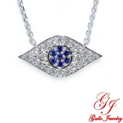 PEN02862. Diamond Evil Eye Pendant