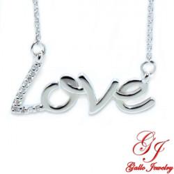 PEN02854. Diamond Love Pendant With Chain
