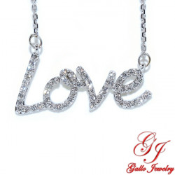 PEN02855. Diamond Love Pendant With Chain
