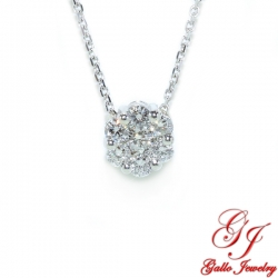 PEN02886. Diamond Flower Cluster Pendant
