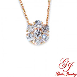 PEN02516.R Rose Gold Diamond Flower Pendant