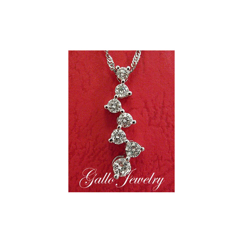 Zig zag diamond journey pendantnecklace smaller size zig zag diamond journey pendantsmaller size aloadofball Images