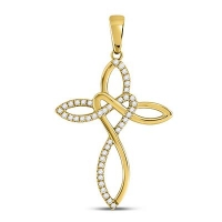 148901. Diamond Cross Pendant