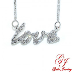 PEN02853. Diamond Love Pendant With Chain