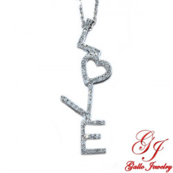39536. LOVE Diamond Pendant