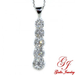 13970. Diamond Cluster Journey Pendant