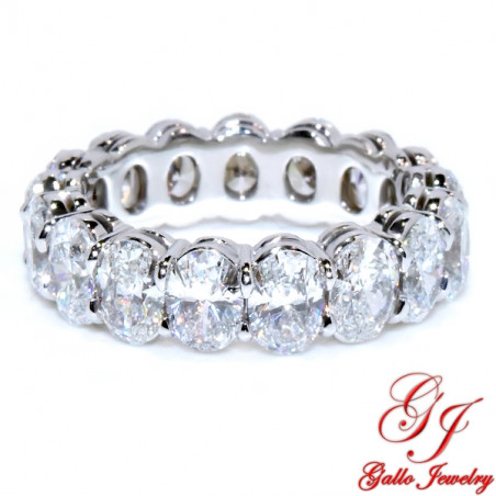 WB02874. Oval Cut Diamond Eternity Band - Size 6.25