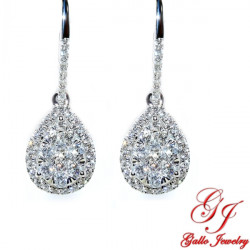 104792. Diamond Teardrop Dangle Earring