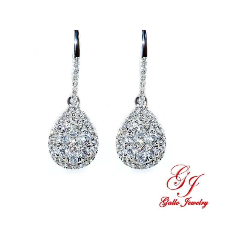 104792. Diamond Teardrop Dangle Earring
