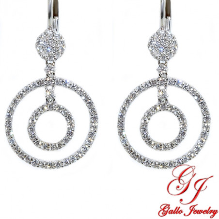 ER01051. Diamond Open Circle Drop Earrings