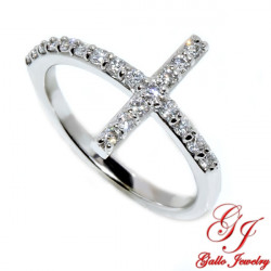 R02563. Diamond Cross Ring