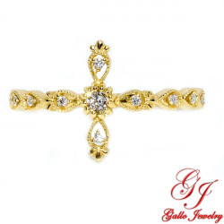 LR02652. Diamond Cross Ring