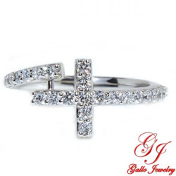 LR02245. Diamond Cross Ring