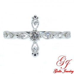 LR02651. Diamond Cross Ring