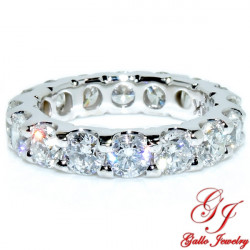 WB02807. Round Cut Diamond Eternity Band - Size 6