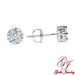 045818. Diamond Stud Cluster Pendant