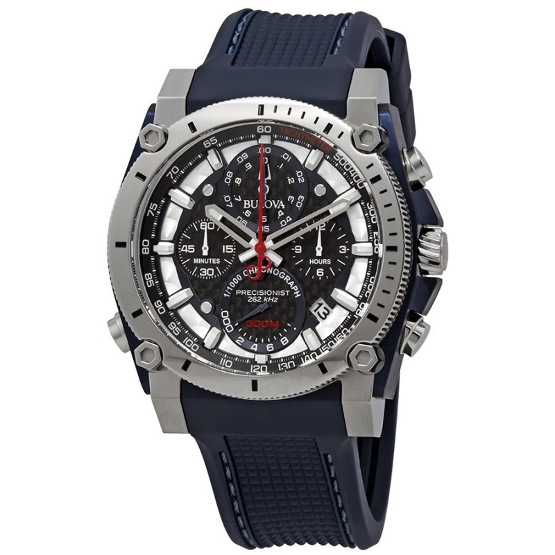 98B315. BULOVA Men's Precisionist Champlain Stainless Steel Chronograph Watch