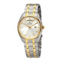 98C127. Bulova Men's Two Tone Watch