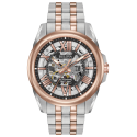 98A166. BULOVA Men's Two-Tone Stainless Steel Automatic Skeleton Watch