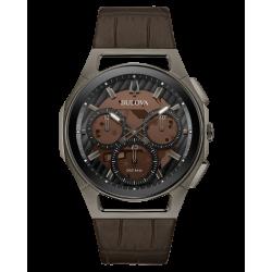 98A231. BULOVA Men's CURV Stainless Steel Chronograph Watch