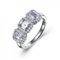 R0400CLP. Lafonn Classic Sterling Silver Simulated Diamond RIng