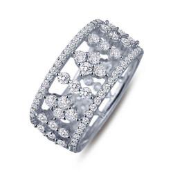 7R016CLP. Lafonn Pave Glam Platinum-Plated Simulated Diamond Ring