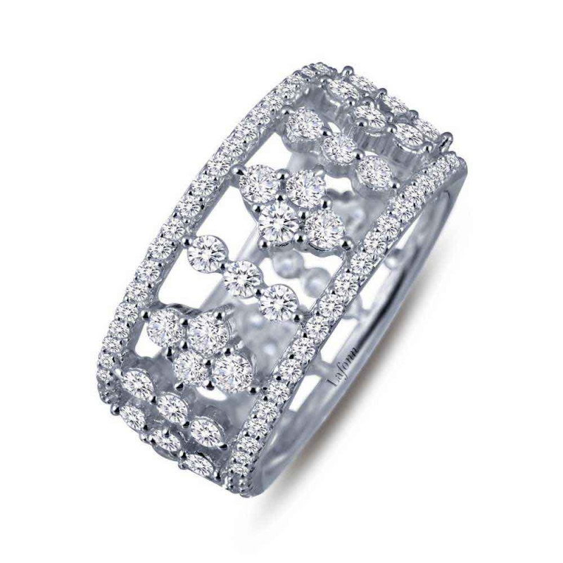 7R016CLP. Lafonn Pave Glam Platinum-Plated Simulated Diamond Ring