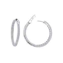 E3022CLP. Lafonn Classic Platinum-Plated Simulated Diamond Earrings