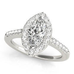 50375-E. Halo Diamond  Engagement Ring (Center Stone Sold Separately)