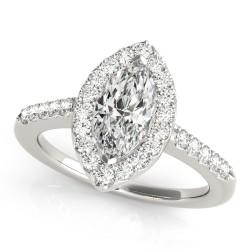 50375-E. Halo Diamond  Engagement Ring (Center Stone Sold Separately)