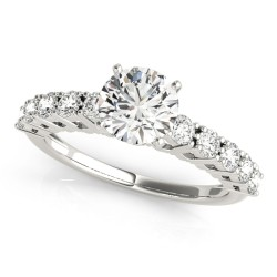 50496-E. Diamond  Engagement Ring (Center Stone Sold Separately)