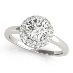 50533-E. Halo Diamond  Engagement Ring (Center Stone Sold Separately)