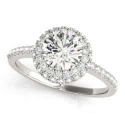 50534-E. Halo Diamond  Engagement Ring (Center Stone Sold Separately)