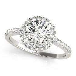 50534-E. Halo Diamond  Engagement Ring (Center Stone Sold Separately)