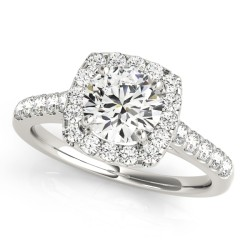 50576-E. Halo Diamond  Engagement Ring (Center Stone Sold Separately)