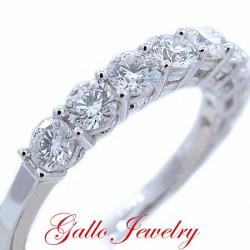 WB00357. Ladies Prong Setting Diamond Wedding Band