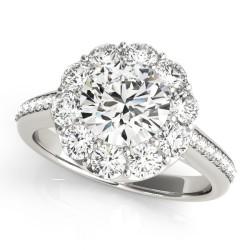 50578-E. Halo Diamond  Engagement Ring (Center Stone Sold Separately)