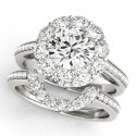 50578-E. Halo Diamond  Engagement Ring (Center Stone Sold Separately)