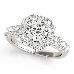 50593-E. Halo Diamond  Engagement Ring (Center Stone Sold Separately)