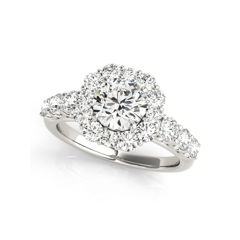 50593-E. Halo Diamond  Engagement Ring (Center Stone Sold Separately)