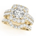 50657-E. Halo Diamond  Engagement Ring (Center Stone Sold Separately)