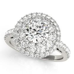 50661-E. Halo Diamond  Engagement Ring (Center Stone Sold Separately)