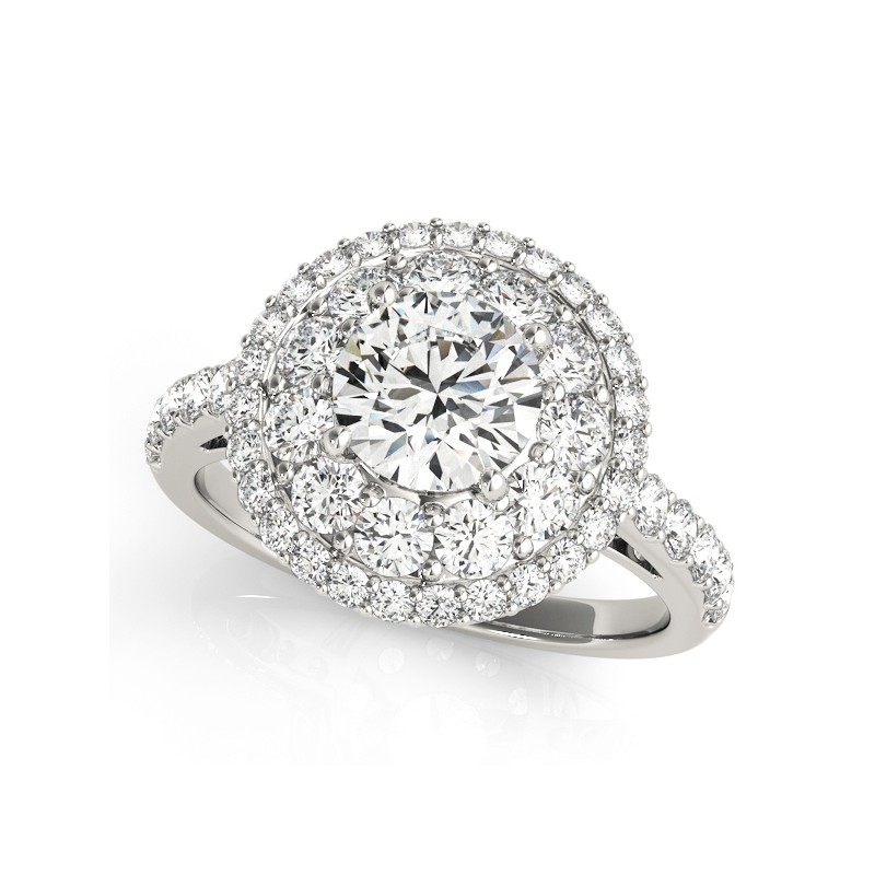 50661-E. Halo Diamond  Engagement Ring (Center Stone Sold Separately)