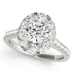 50582-E. Halo Diamond  Engagement Ring (Center Stone Sold Separately)
