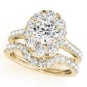 50582-E. Halo Diamond  Engagement Ring (Center Stone Sold Separately)