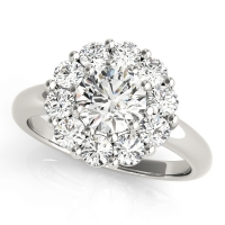 50630-E. Halo Diamond  Engagement Ring (Center Stone Sold Separately)