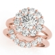 50630-E. Halo Diamond  Engagement Ring (Center Stone Sold Separately)