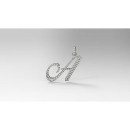 PEN03237.A Cursive Initial Pendant - Letter A