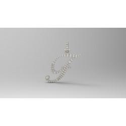 PEN03237.F Cursive Initial Pendant - Letter F