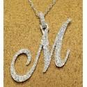 PEN03237.M Cursive Initial Pendant - Letter M